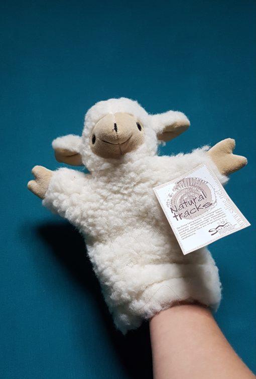 marionnette agneau laine