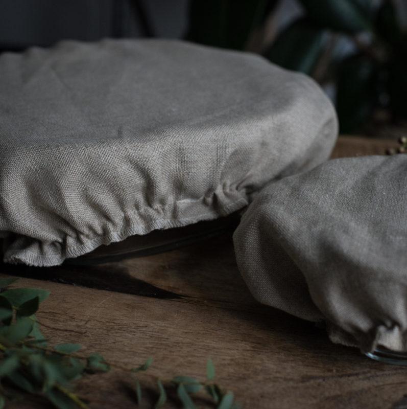 couvre plat en lin