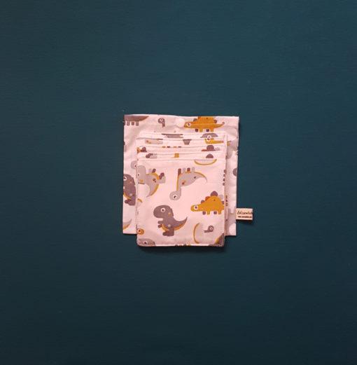 lingettes bébés et sa pochette zero dechet